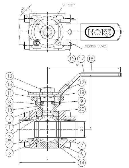 item   7520f12y  3-piece full port ball valves  threaded ends  on circor instrumentation